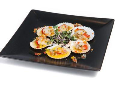 sepia con mahonesa de wasabi